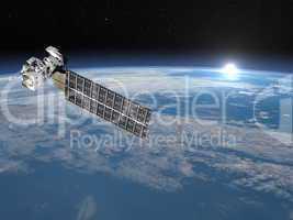 Aqua satellite - 3D render