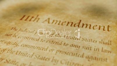 Historic Document 11th Amendment