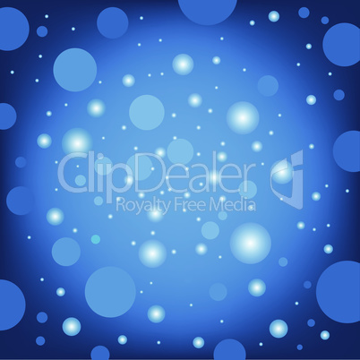 circular effects blue background