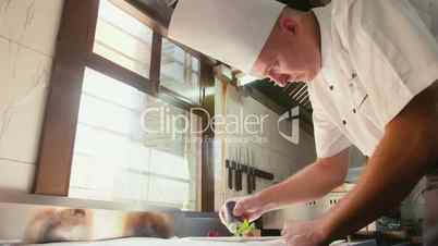 2of26 Chef cooking, preparing food, professional cook in restaurant kitchen