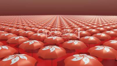 Hongkong Occupy Central Umbrella Revolution Orange // 3D Visualization