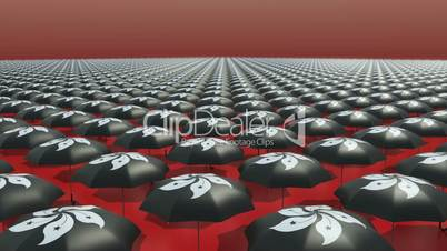 Hongkong Occupy Central Umbrella Revolution Black // 3D Visualization
