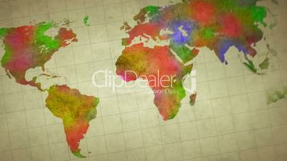 Watercolor world map animation royalty free video and stock footage watercolor world map animation gumiabroncs Images