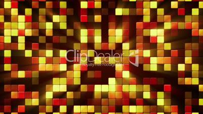 orange shiny mosaic tiles loopable background