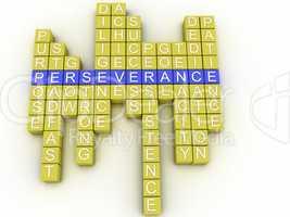 3d imagen Perseverance concept word cloud background