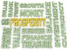 3d imagen Prosperity concept word cloud background