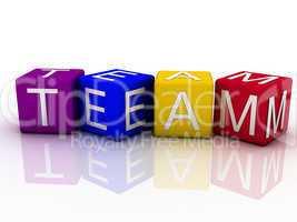 3d imagen Team concept word cloud background