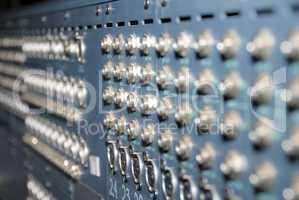 Studio xrl cables patch panel.
