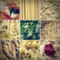 Retro look Italian food collage