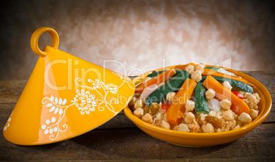 Vegetable Tajine with cous cous