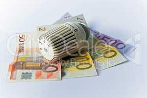 Thermostat, Heizkosten, Geldschein, Banknote