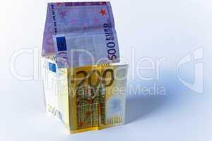 Geldschein, Banknote, Haus, Heim, Heizkosten