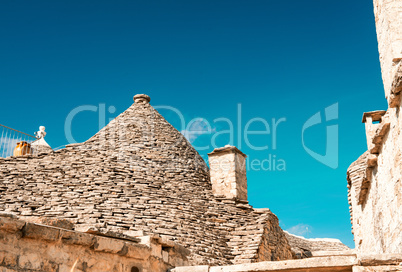 Trulli in the southern Italian town of Alberobello, Apulia, Ital