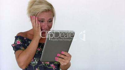 Woman reveiving good news