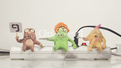 stopmotion animation monster jury voting