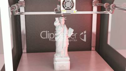 Statue of Liberty printed by 3D Printer // 3D Visualiszation