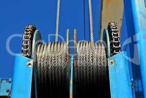 Steel cable pulleys