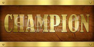 Vintage Door Plate, Champion