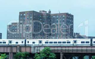 NEW YORK CITY - MAY 25, 2013: Metro North Railroad train speeds