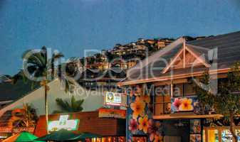 AIRLIE BEACH, AUSTRALIA - JULY 19, 2010: City streets at night.