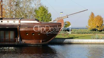 Galleon ship-restaurant in Mezhigirya of ex-president Yanukovich