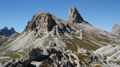 couple enjoy dolomites mountain alps 11512