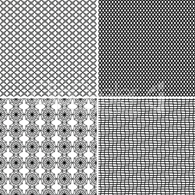 Four Seamless Ornamental Greed Patterns