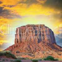 Monument Valley, buttes in the Navajo Tribal Park