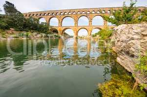 The picturesque nature of southern France with its famous landma