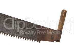 Isolated image of handsaw