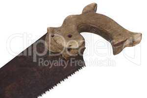 Image of handsaw with wood handle