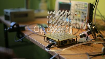 Cube of LEDs