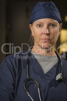 Attractive Female Doctor or Nurse Portrait