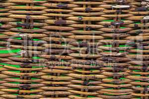 Photo of wicker beige texture