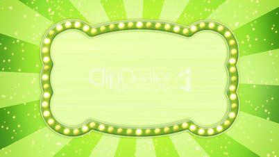 flash light bulbs green banner loop