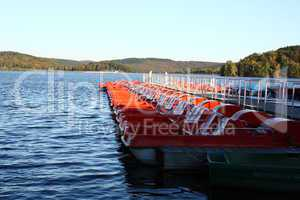 red pedal boats