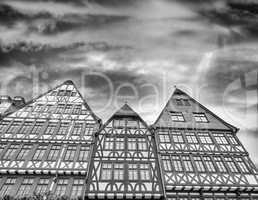 Ancient buildings of Roemerberg square - Frankfurt