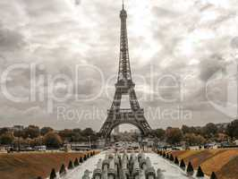 Tour Eiffel, Paris. Wonderful view of famous Tower from Trocader