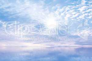 Sky Sun Sea Background