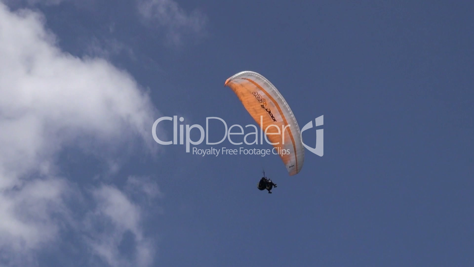 Parasailing in Clouds, Paragliding, Sky Diving: Royalty-free