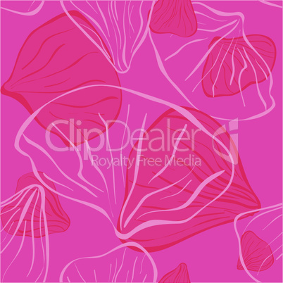 pink seamles fith flower petal for background or textile.eps