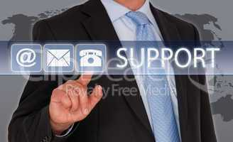 Support - Businessman with Touchscreen