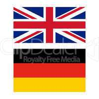 Flag of United Kingdom and Germany