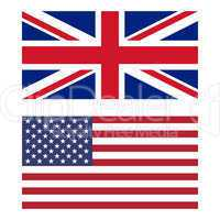 Flag of United Kingdom and United States