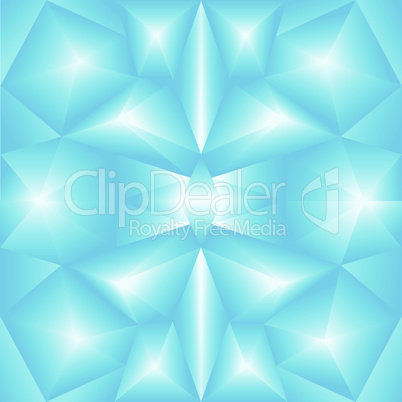 abstract triangular gradient blue background