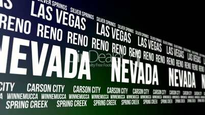 Nevada State and Major Cities Scrolling Banner
