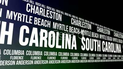 South Carolina State and Major Cities Scrolling Banner