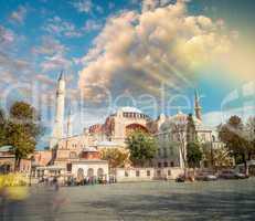 Beautiful Hagia Sophia Museum Aerial View