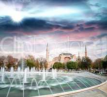 Famous Byzantine Church Hagia Sophia, Istanbul, Turkey