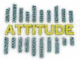 3d imagen Attitude  issues concept word cloud background